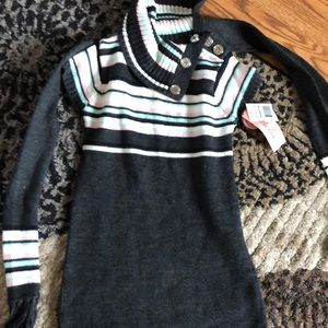 Other - Sweater dress size 3T with scarf